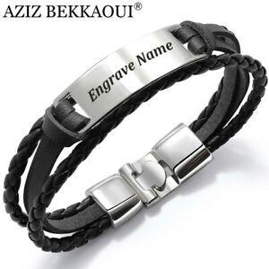 Id Edelstahl Armband Partnerarmbander Mit Gravur Nach Wunsch Herren Damen Unisex Ebay Armband Leder Lederarmband Mit Gravur Manner Armband
