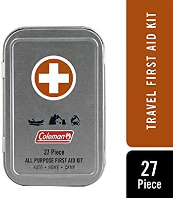 Amazon Com Coleman All Purpose Mini First Aid Kit 27 Pieces Sports Outdoors Mini First Aid Kit First Aid Kit Travel First Aid Kit