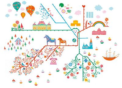 Stockholm Is Home To Around Million People Yet It Has - Sweden tunnelbana map