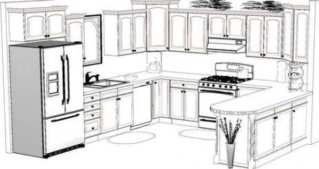 Kitchen Design Drawing Cabinets 57 Trendy Ideas Kitchen Design Plans Kitchen Design Kitchen Layout