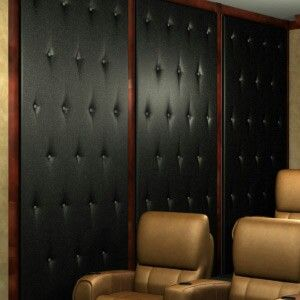 "Home Theater Wall Panels home theater wall panel - simple sconces"" - make acoustic wall"