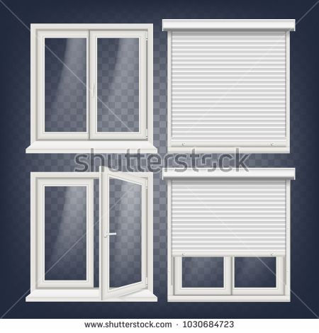 Plastic Window Vector White Metallic Roller Shutter Pvc Windows Plastic White Window Frame Isolated On Transp Window Shutters Aluminum Shutters Pvc Windows