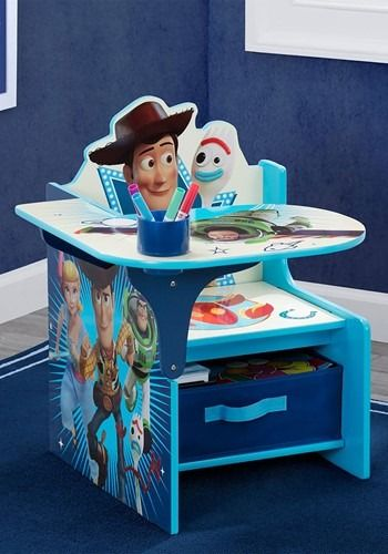 Chair Desk With Storage Bin Toy Story Sponsored Storage Spon Desk Chair Desk Storage Desk Chair Fabric Storage Bins