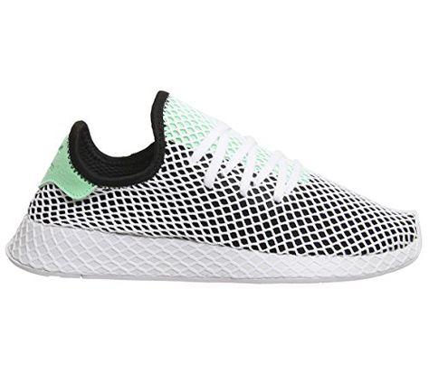 adidas U deerupt Runner Black Green White | Chaussure, Chaussures ...