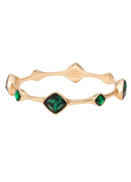 Emerald green- The HOT color for fall! Lulu Avenue | cordoba bangle green, gold www.luluavenue.com/sites/BarbaraWilson