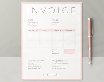 Order Form Template Printable Small Business Order Form Etsy Photography Invoice Photography Invoice Template Printable Invoice