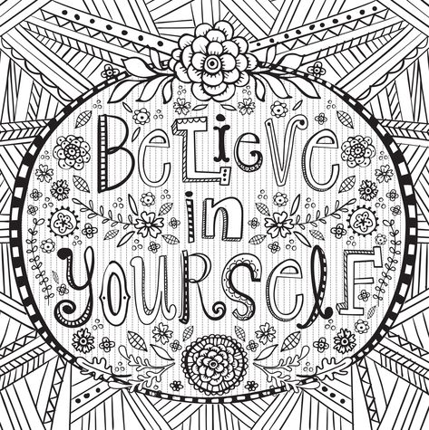 SIGNED COPY Inspirational Coloring Book Quotes Christian Positive - copy coloring pages of the letter m