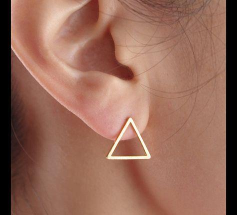 Dreieck Ohrringe, Dreieck Ohrstecker, geometrische