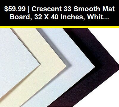Framing And Matting 37573 Crescent 33 Smooth Mat Board 32 X 40 Inches White Cream Pack Of 10 Buy It N Barn Wood Picture Frames Picture On Wood Mat Board