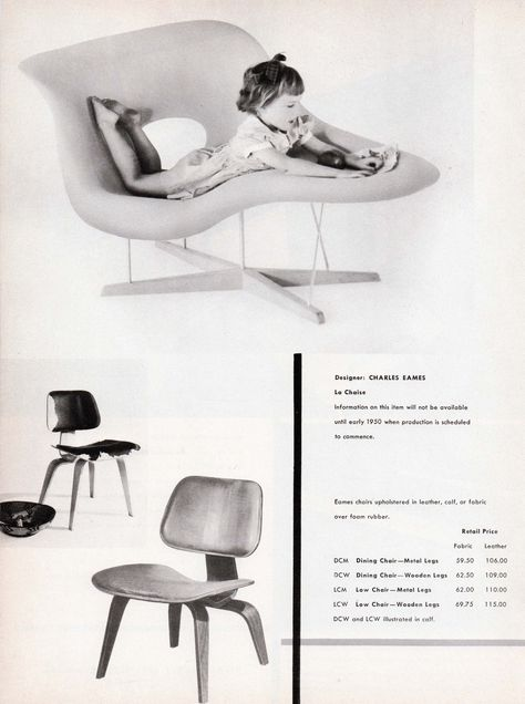 The First Appearance Of The Eames La Chaise In Furniture Forum