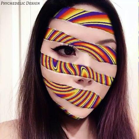16 ideias de Psychedelic makeup | arte em maquiagem