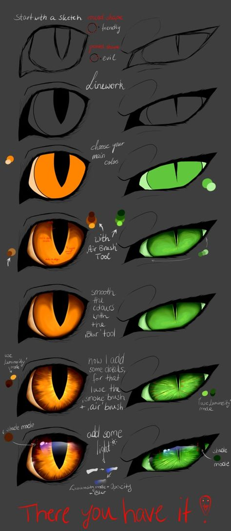 Tutorial – Cat eyes (PAINT TOOL SAI) by Copperlight – Zeichnen – Paint Tool Sai Hautfarben & co:( –…Digital art eyes eye tutorial by step by…Paint Tool Sai brushesOutil de peinture Sai Hautfarben & co 🙁 Cat Eye Tutorial, Cat Drawing Tutorial, Eye Drawing Tutorials, Digital Painting Tutorials, Digital Art Tutorial, Drawing Techniques, Drawing Tips, Paint Tool Sai Tutorial, Art Tutorials
