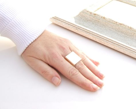 Valentine's+Day++Sale+Gold+Flat++Ring+Gold+Ring+by+YaelSteinberg,+$29.00
