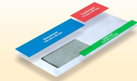 Briefumschlag beschriften und gestalten - Die verschiedenen Zonen eines Briefumschlags