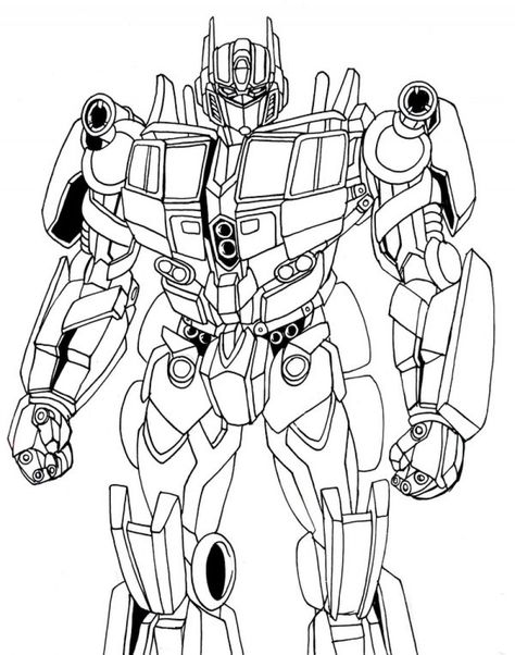 Optimus Prime Coloring Pages for Kids - Enjoy Coloring ...