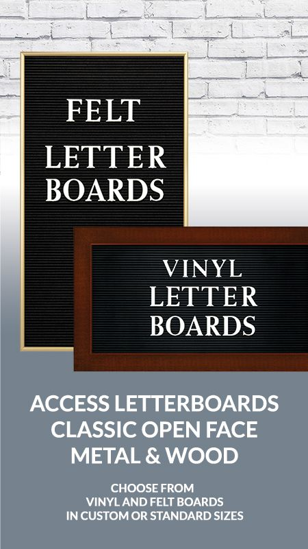Access Vinyl And Felt Letter Boards Lettering Letter Board Felt Letter Board
