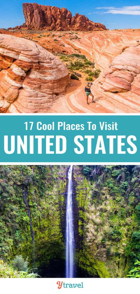 Planning to visit the USA? Check out this list of 17 cool places to visit in the USA (some you may not have heard of). Don't take a USA trip before reading these USA travel tips for your next vacation! #USA #travel #bucketlisttravel #USAtravel #roadtrips #vacations