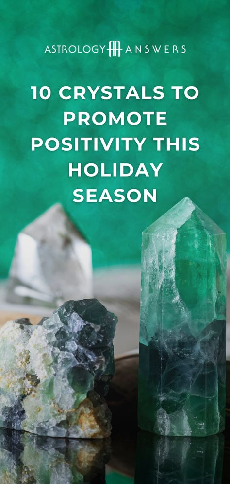 These 10 crystals will bring positivity to your holiday season. #crystals #positivty #holidaycrystal #crystalholiday #crystalsforpositivity