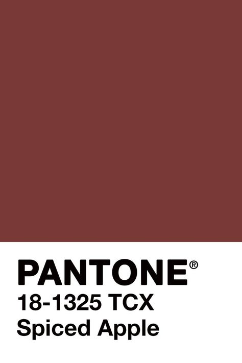Spiced Apple by Pantone. This is a great Burgundy tone that we can see on a velvet or linen accent chair or ottoman.