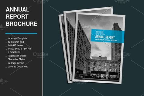 Annual Report \ Brochure by Templatepickup on @creativemarket - annual report templates free download