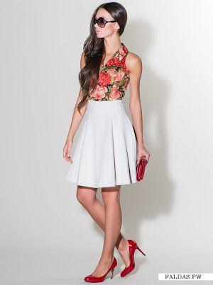 bfcb36ff6 Faldas Blancas   Moda en 2019   Falda modelo, Faldas y Moda