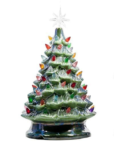 Relive Christmas Is Forever Lighted Tabletop Ceramic Tree Best Offer Ineedthebestoffer Com Vintage Ceramic Christmas Tree Small Christmas Trees Christmas Tree Colored Lights