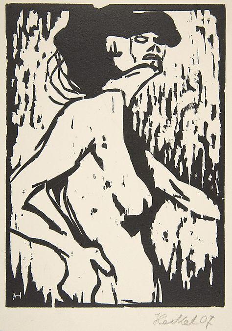 Nude (Akt)  Erich Heckel (German, Döbeln 1883–1970 Radolfzell)