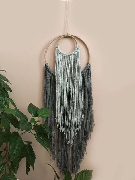 Boho Decor,Wall Decor,Large Wall hanging,Ombre wall hanging,Home Decor,Bohemian Decor,Yarn Wall Hanging,Handmade Wall Decor,Boho Wall  Art