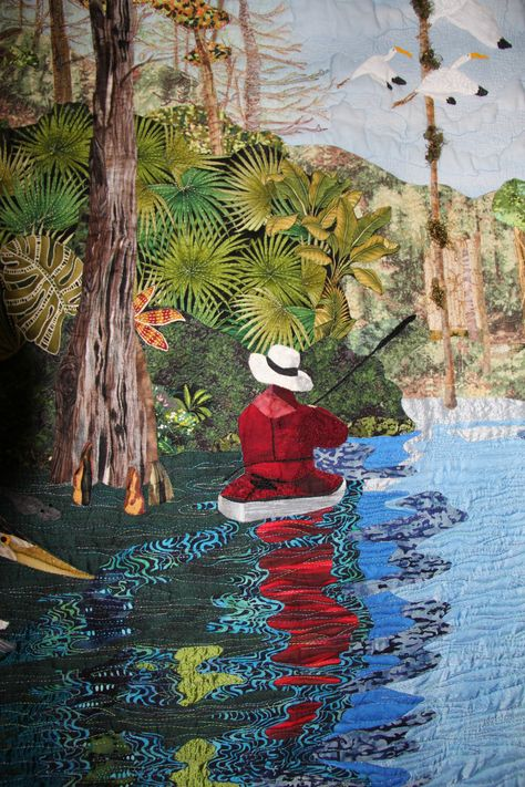 """Silver River Serenity"" by Jean Freestone (Osprey, Florida).  2011 World Quilt Show (Florida).   Photo by Tangerine Key"