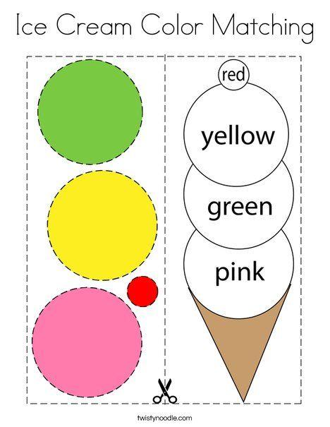 Ice Cream Color Matching Coloring Page Twisty Noodle Color Activities For Toddlers English Activities For Kids Learning Colors Activities The color activities for preschool