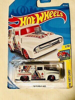 Hot Wheels 56 Ford F 100 Hw Art Cars Queen Of Hearts 2019 Ebay Art Cars Hot Wheels Queen Of Hearts