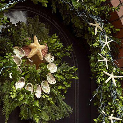 Shell Wreath and Starfish Garland