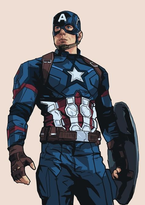 """Captain America - Alternative Movie Poster"". Um projeto de alessandra_stanga   Domestika"