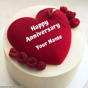 Edit Online Happy Anniversary Card With Couple Pic Cute Couple Name Write On Anniversary Card Pictu Happy Anniversary Cakes Happy Anniversary Anniversary Cake