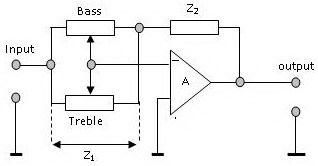 Blok Diagram Rangkaian Tone Control Pengatur Nada Penguatan