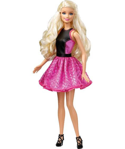 Make up Barbie like never before - girls can curl her entire head of long, luxe hair!