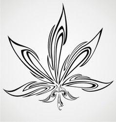 Tribal Marijuana Leaf Royalty Free Vector Image