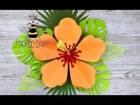 Hibisco Gigante De Papel Moldes Gratis Flores De Papel Flor Cayena Hibiscus Paper Flor De Moana Como Hacer Flores De Papel Tutorial De Flores De Papel