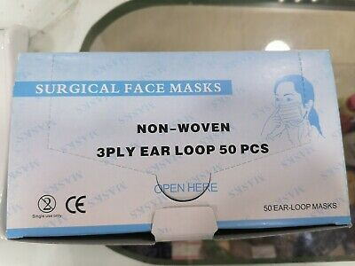 Ad Ebay Url 10 Box Disposable Face Mask Surgical Medical Non Woven 3ply 4 Early Loop Jordan In 2020 Face Mask Face Woven