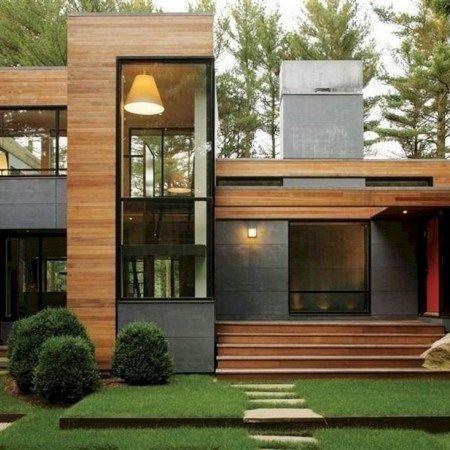 45 Inspiring Modern House Design Ideas 43 Homezideas Com In 2020 House Architecture Design Modern Architecture Building Modern Architecture