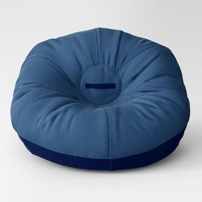 Astonishing Canvas Bean Bag Chair Navy Pillowfort Machost Co Dining Chair Design Ideas Machostcouk