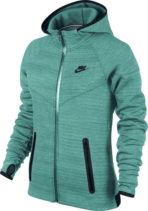 reasonable price fashion style hot new products Nike Damen Pullover High-Tech Fleece Windrunner, Grün, XL ...