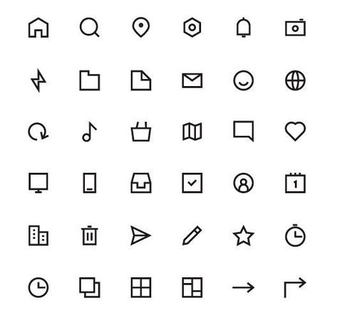 Free 36 Minimal UI Icons EPS - TitanUI