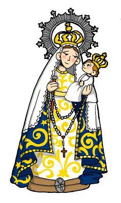 Nuestra Senora Del Rosario De Mendoza Virgen Maria Para Ninos