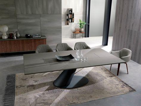Ricci Casa Tavoli Allungabili.Tavolo Allungabile Da Pranzo Rettangolare In Cemento Thor Tavolo