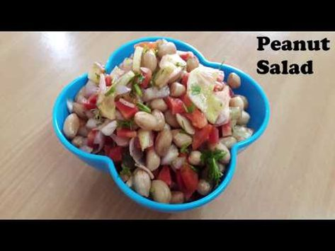 Peanut salad   Chaat For Weight Loss   Fat Cutter Snack for summer   Weight loss recipe - YouTube