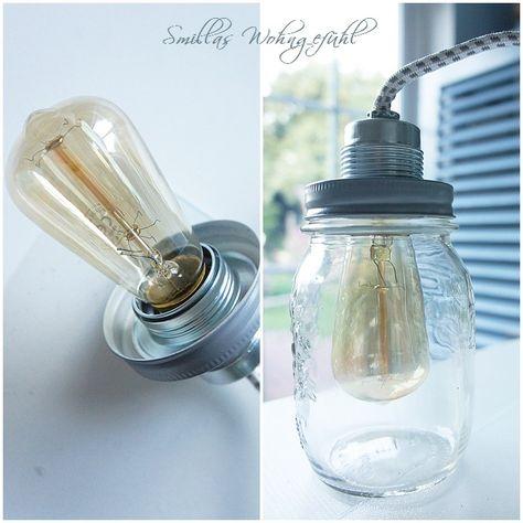 Smillas Wohngefühl: [DIY] Lampe statt Essig-Gürkchen ;-)