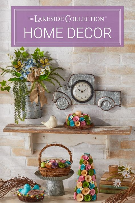 Welcome a #new season with brilliant new home decor values! Fill every room with cheerful, uplifting #pastels that will shake off the winter blues. Then, add some of our design classics to create a #timeless look that is all your own for less Take a look at our values for every room and get some interior inspiration. From galvanized to rustic to farmhouse to Easter decor - Lakeside Collection has it all.