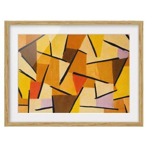 Gerahmtes Papierbild Harmonisierter Kampf Von Paul Klee East Urban Home Grosse 50 Cm H X 70 Cm B Rahmenop In 2020 Framed Art Prints Wood Picture Frames East Urban Home