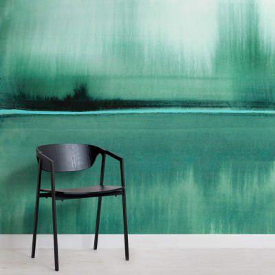 Decoration Murale Lac Aquarelle Vert Emeraude Avec Images